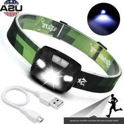 10000LM USB Rechargeable IR Sensor T6 LED Headlamp Flashligh