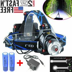 500000LM Rechargeable Head light T6 LED Tactical Headlamp Zo