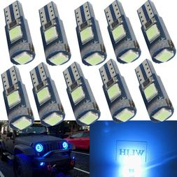 WLJH 12x LED T5 Lamps Light Bulb Location For <font><b>Headl