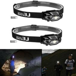2x LED Headlamp Head Light Flashlight Head Torch Lamp Batter