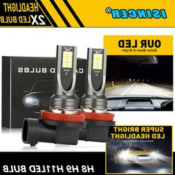2XCREE H11/H8/H9 LED Headlight 400W 16000LM Fog light Kit Hi