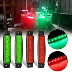 4pcs Red Green Boat Navigation LED Lights Stern Lights Boats