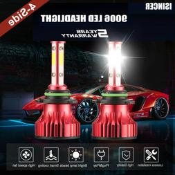 4-Sided Headlight 9006 9012 HB4 LED Bulbs 2000W 300000LM 201
