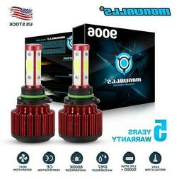 4-sides LED Headlight Kit 9006 HB4 HB4U 6000K 2500W 375000LM