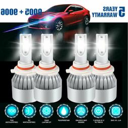 9006+9005 LED Headlight 4200W 630000LM Hi-Lo Beam Combo Kit