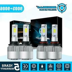 9006+9005 LED Headlight Bulbs 3400W 510000LM Hi-Lo Beam Comb