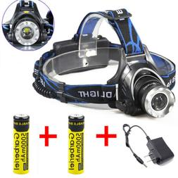 990000LMS T6 LED Headlamp Flashlight Headlight 18650 Torch W