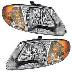 Driver and Passenger Headlights Headlamps Replacement for Do