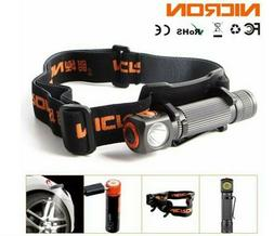 Nicron Angle 60° USB Rechargeable LED Headlamp Cree Flashli