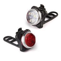 LED Bicycle Light- Ascher Super Bright Rechargeable Front an
