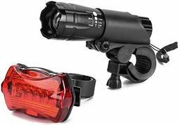 Bike Light Set Front Back LED Headlight and Tail Light 200 L