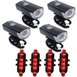 Bright LED Bicycle Bike Front Headlight USB Rechargeable and
