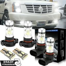For Cadillac Escalade 07-14 6Pcs White LED Fog Driving DRL L