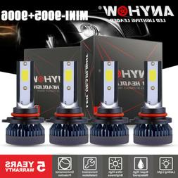 Combo 9005 9006 Smart-Side LED Headlight Kit 1500W 15000LM H