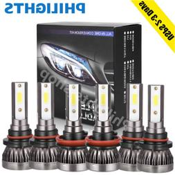 Combo 9005 + H11 + 9006 CREE LED Headlight Kit Hi Low Bulbs