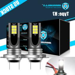 H7 LED Headlight Bulbs Conversion Kit 55W 8000LM 6000K Fog L