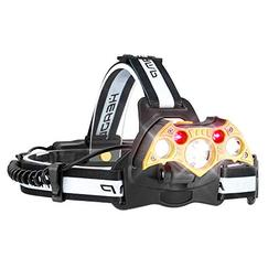 Headlamp Rechargeable, LED Headlight 5 Modes, LED Work Headl