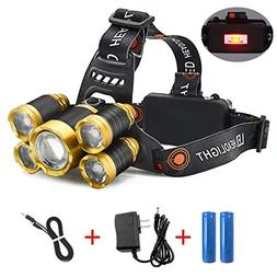 HG Headlamp, Brightest Headlight with 4 Lighting Models, Bes