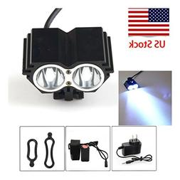 NEW Headlight Bicycle 8000 Lumen 2x CREE T6 LED Front Light