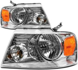 DNA MOTORING HL-OH-F1504-CH-AM Headlight Assembly Driver and