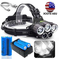 High Power 350000LM T6 LED Headlamp Headlight Torch Recharge