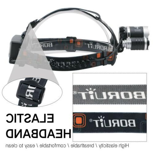 Headlamp Rechargeable Head 2x18650