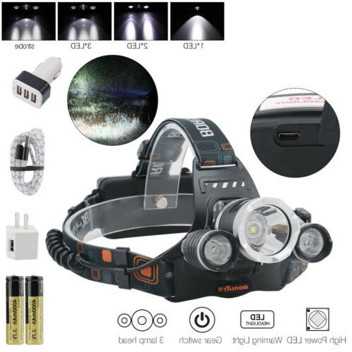 Headlamp Rechargeable Flashlight Head
