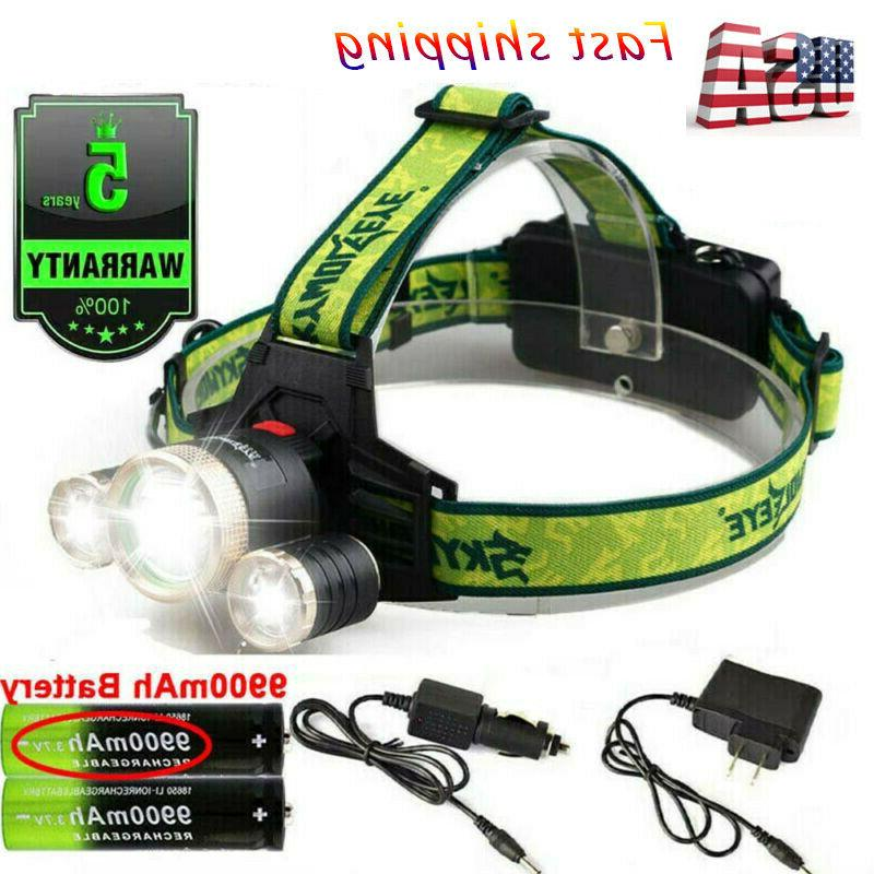 250000LM Headlamp Rechargeable Torch