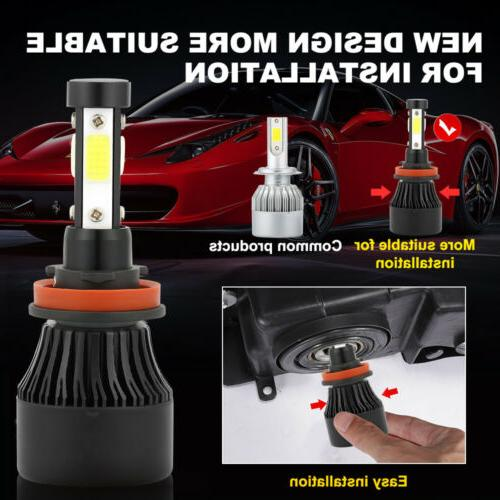 4-Sides H11 H8 CREE Kits 285000LM Power 6000K