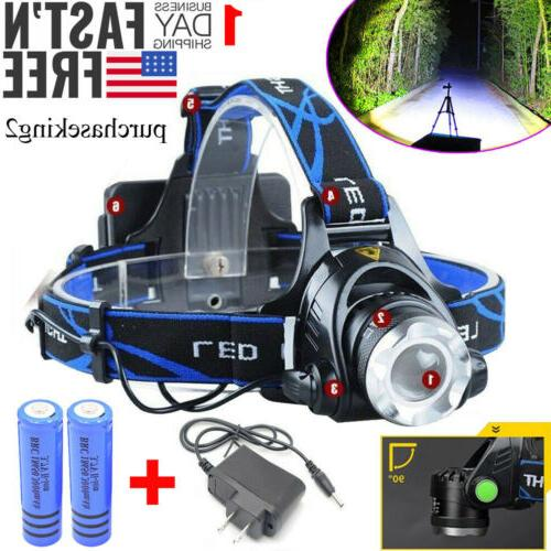 520000LM T6 LED Headlamp Flashlight Torch