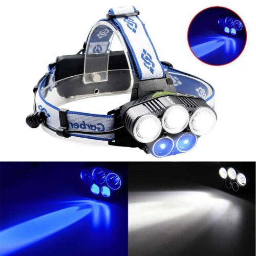 600000LM LED Headlamp Rechargeable Light Flashlight