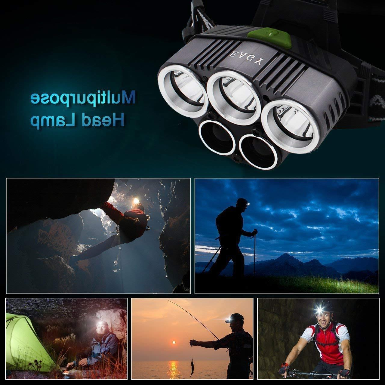 90000LM T6 LED Headlamp Head +Battery