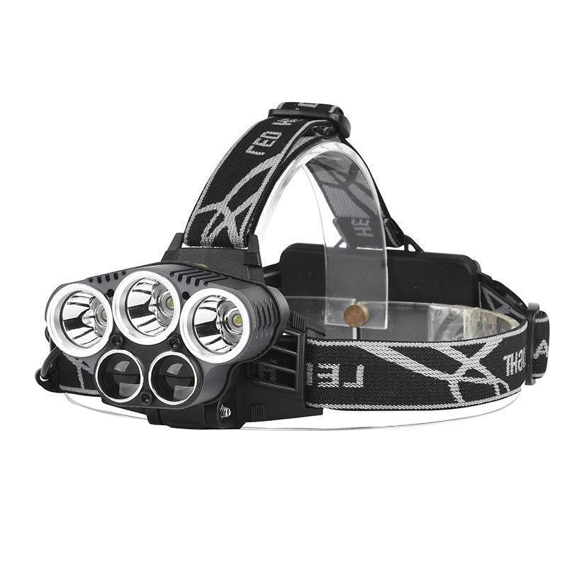 90000LM 5X CREE T6 LED Headlight Flashlight Head