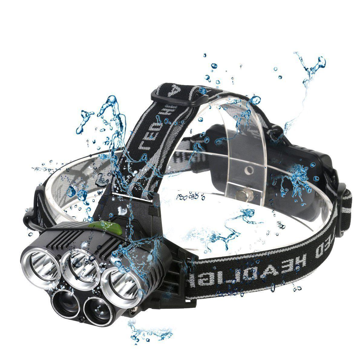 90000LM 5X CREE LED Headlamp Headlight Head