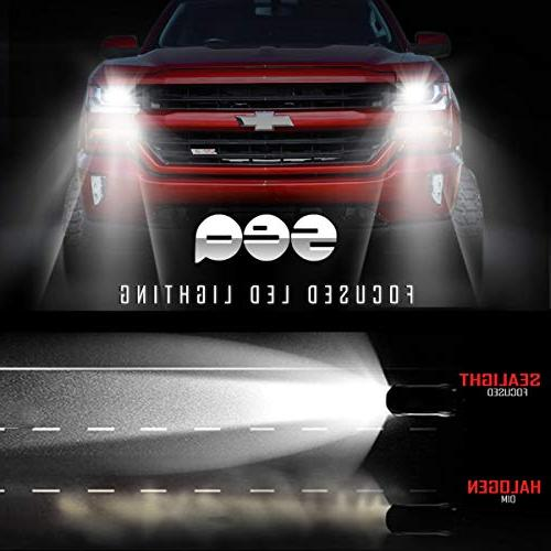 9005/HB3 LED Headlight Kit, DOT Approved, SEALIGHT Series 9145/H10 Fog Light 6000K