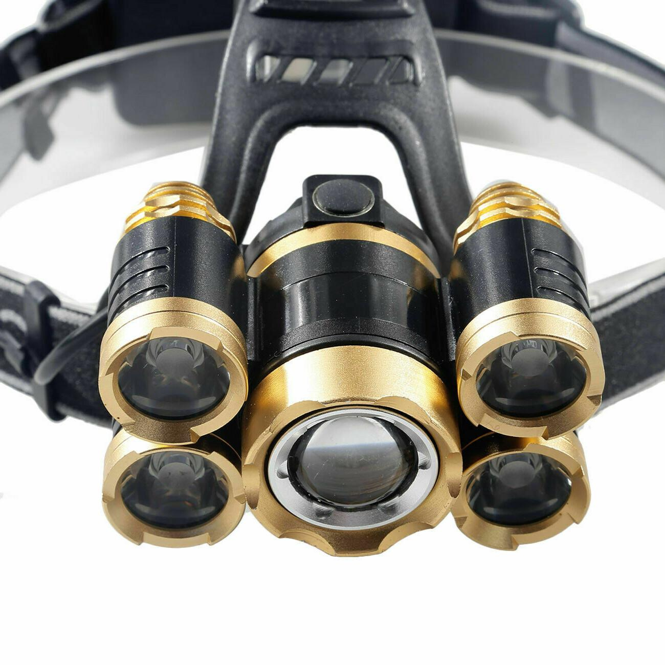 990000LM 5X T6 LED Headlamp Flashlight Torch