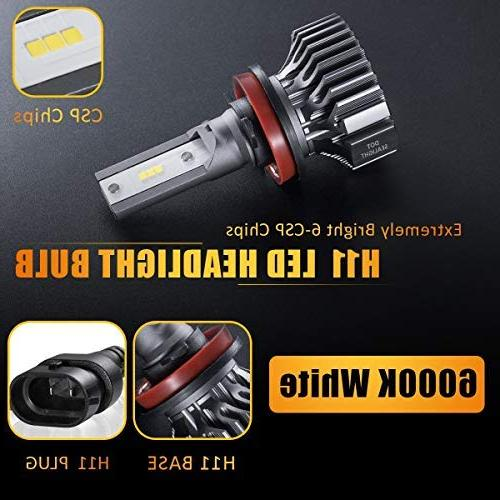H11/H8/H9 Conversion Kit, Approved, CSP Low Light 6000LM Xenon White