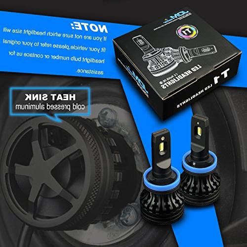 JDM ASTAR Version T1 Bright High H11 H9 Headlight Kit, Xenon