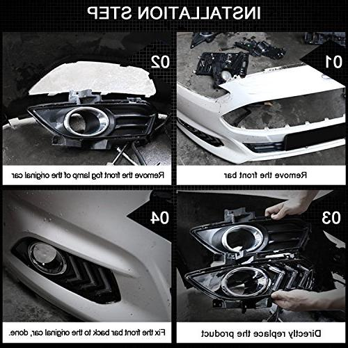 RCP Aftermarket LED Lights Style DRL Fog for 2012-2015 6000K, of 2