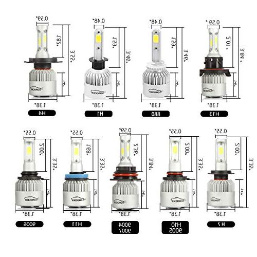 VoRock8 H11 H8 H16 LED Headlight Conversion Kit, Low Driving Halogen Head Replacement, 6500K 1 Pair- 1