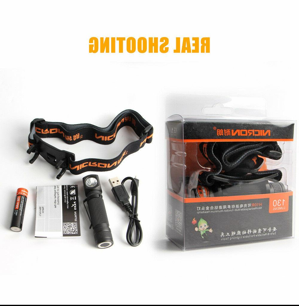 Nicron Rechargeable Flashlight Camping