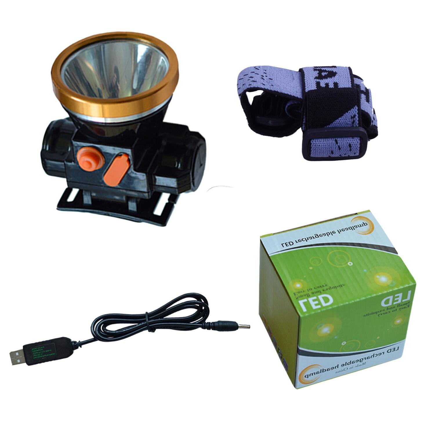 Odear Head Torch LED Rechargeable Headlamp for Camping Ride