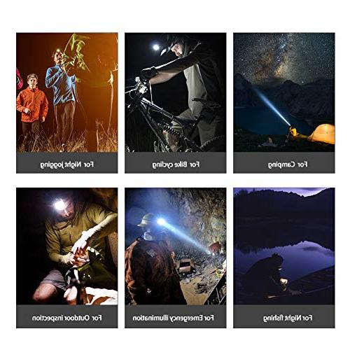 NEWEST Headlamp 12000 CREE LED Work Headlight with Batteries, 4 Modes Zoomable Head Lamp Head for Cycling Hiking Hunting