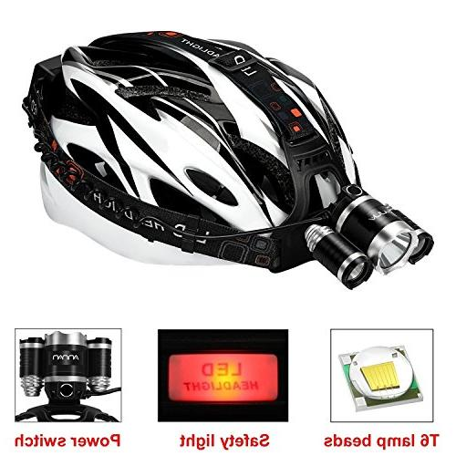 LED ANNAN 8000-Lumen Headlight Light, 4 Modes, Portable for Camping, Biking, Rechargeable Batteries
