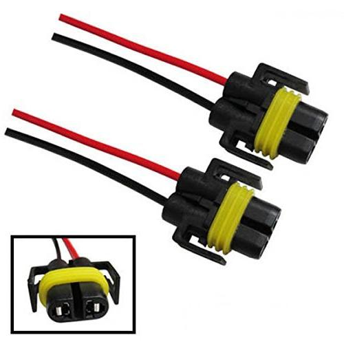 iJDMTOY H11 H8 881 Wiring Harness Sockets Wire Headlights or