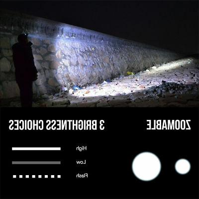 LE 3 Modes Headlamp LED Battery Light
