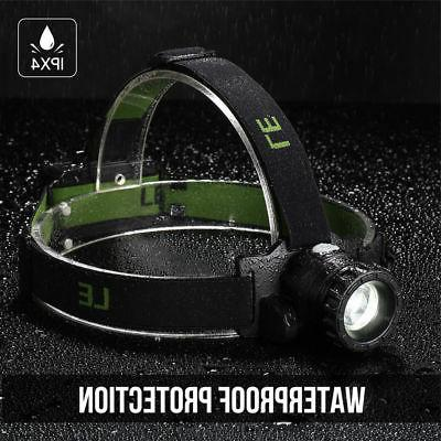 LE Zoomable Headlamp CREE Battery Powered