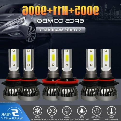 mini combo 9006 9005 h11 led headlight