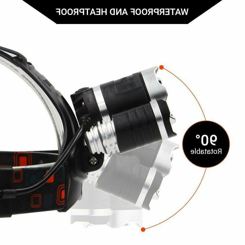 Rechargeable 900000LMS 3 T6 Headlight Flashlight