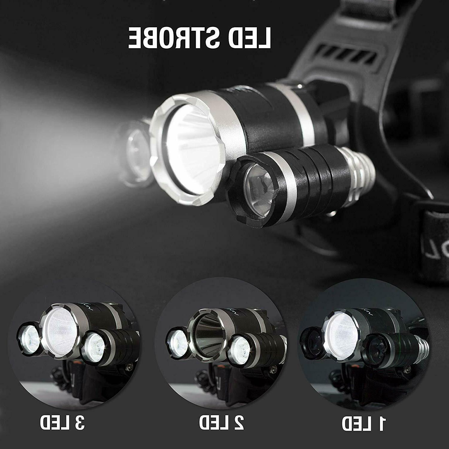 Rechargeable 900000LMS X T6 Headlamp Flashlight Head Torch